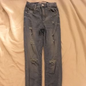 Garage High Rise Distressed Skinny Jeans